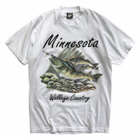 Made in USA / 90's Minnesota Fish / White / Used