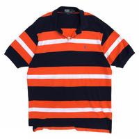 Polo by Ralph Lauren / Border Polo Shirt / Navy × Orange / Used