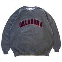 Made in USA / 90s OKLAHOMA Sweat / Charcoal Grey / Used