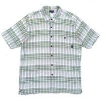 Patagonia / S/S Organic Cotton Check Shirt / Green × White / Used