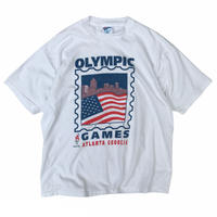 Made in USA / 90's Hanes / 96's Atlanta Olympic Tee / White / Used
