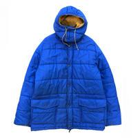 80s eddie Bauer / Full Zip Fill Nylon Jacket / Blue × Yellow / Used