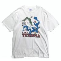 Made in USA / 90's Hanes / LAKE TEXOMA Tee / White / Used