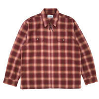 L.L.Bean / L/S Ombre Check Shirt Jacket / Burgundy  / Used