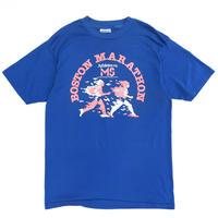 Made in USA  / 80s Hanes /  BOSTON MARATHON Tee / Blue / Used