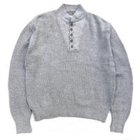 Made in USA / L.L.Bean / Henry-neck Sweater / Gray / Used