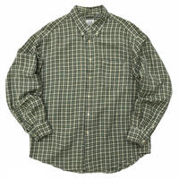 OLD GAP / Linen & Rayon Multi Checked B.D Shirt / Used