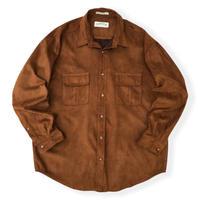 00's ORVIS / 2Pocket Fake Swede Shirt / Brown / Used