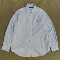 Polo Ralph Lauren / Cotton B.D. Checked Shirt / Blue × Green / Used