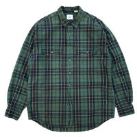 OLD GAP / Cotton Check Shirt / Green Check / Used