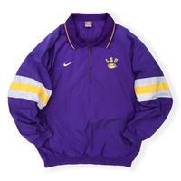 "90's Nike / ""LSU"" Half Zip Sport Jacket / Purple XL / Vintage"