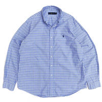 Polo Ralph Lauren / B.D. Check Shirt / White × Blue / Used