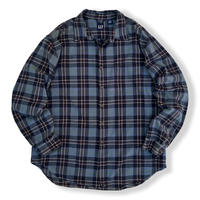 00's GAP / Cotton Multi Checked Shirt / XL / Used
