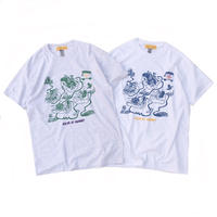 Color at Against Originals /  Down The River Tee / White , Ash