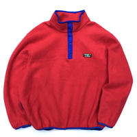 Made in USA / 90s L.L.Bean / Fleece Snap T / Red / Used