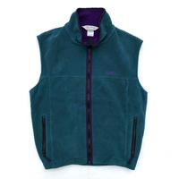 Made in USA / 80's L.L.Bean / Fleece Vest / Green × Purple / Used