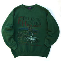 Made in USA / 90s COLEMAN / Print Sweat / Green / Used