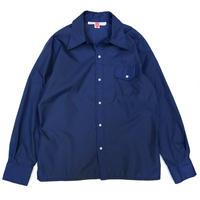 70's SKYR / Nylon Work Shirt / Blue / Used