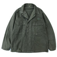 "US Military / 40s WW2 HBT Shirt Jacket ""Gas Flap"" / Khaki / Used"