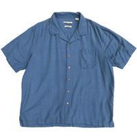 Silk Open Collar Shirt / Blue / Used