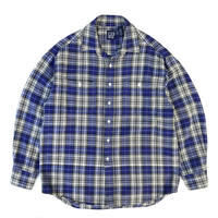 OLD GAP / Cotton Flannel Shirt / Navy / Used