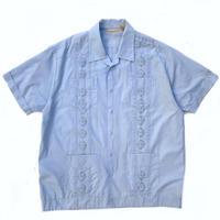 S/S Open Collar Cuba Shirt / Lt.Blue / Used