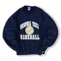 90's Russell Athletic / College Logo Sweat / Navy XL / Used