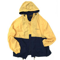80s Eddie Bauer / F/Z Nylon Parka / Navy × Yellow / Used