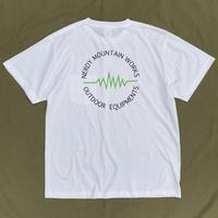 NERDY MOUNTAIN WORKS / CIRCLE LOGO TEE / Green Logo