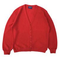 Made in USA / 70s Pendleton / Virgin Wool Cardigan / Red / Used