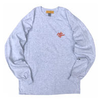 "Color at Against ORIGINALS / C&C ""Orange"" Embroidered L/S Tee / Ash"