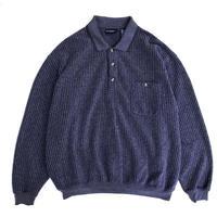 Puritan / Polo Collar Sweat / Navy / Used