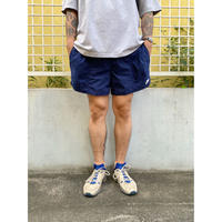 90's Nike / Embroidered Training Shorts / Navy / Used(L)