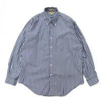 90s L.L.Bean / L/S Stripe Shirt /Navy × White × Red / Used