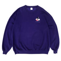 Made in USA / 90'S Looney Tunes Printed Sweat / Purple / Used