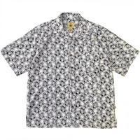 Rayon Blend Hawaiian Open Collar Shirt / Black / Used