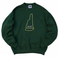90s Lee / New Hampshire Duck Sweat / Green / Used