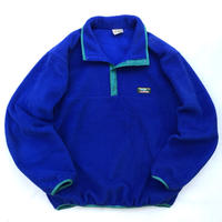 Made in USA / 80s L.L.Bean / Snap T Fleece Pullover / Blue / Used