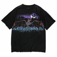 Made in USA / 90's HABITAT / Deer  Tee / Black / Used