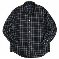 "90's Raph Lauren / Cotton Multi Checked B.D Shirt ""BLAIRE"" / Used"