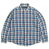 Polo Ralph Lauren / Cotton B.D. Check Shirt / Blue / Used