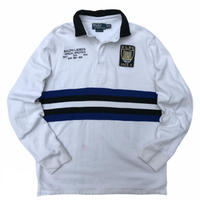 POLO by Ralph Lauren / Cotton Rugby Polo Shirt / White / Used