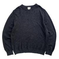 00s L.L.Bean / Lamb Wool Knit / Charcoal / Used