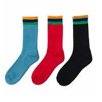 Bedlam / Flag Socks / Black , Red , Lt Blue