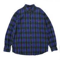 90's Eddie Bauer / L/S Check Shirt / Blue / Used