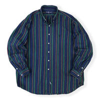 90's Ralph Lauren / Multi Striped B.D.Shirt / Used