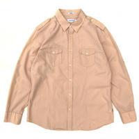 Calvin Klein / L/S Cotton Striped Shirt / Apricot / Used