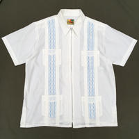Full Zip Cuba Shirt / White / Used