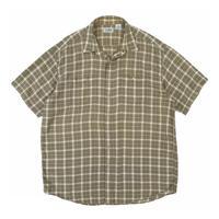 "90's L.L.Bean / Cotton Check Shirt ""cool weave"" / Khaki Check / Used"