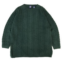 OLD GAP / Pullover Cotton Cable Knit Sweater / Forest / Used